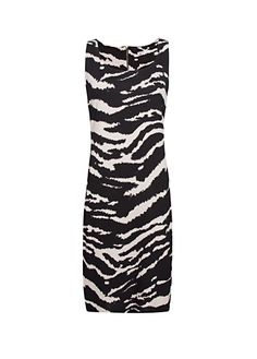 MANGO - Straight cut zebra dress