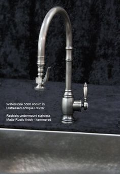 Waterstone Hampton Kitchen Faucet In Antiqued Pewter   Google Search