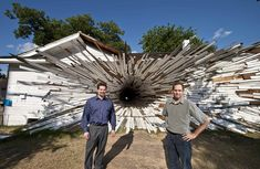 Tunnel vision: Dan Havel and Dean Ruck transformed two bungalows in Houston into their first project, entitled Inversion, in 2007    Read more: http://www.dailymail.co.uk/news/article-2047445/The-men-make-houses-explode-sake-art.html#ixzz2FRLCptuq   Follow us: @MailOnline on Twitter   DailyMail on Facebook