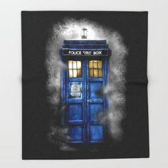 Haunted Halloween Blue phone Box oil painting #throwblankets #tanktop #tshirt #tee #tardis #doctorwho #starrynight #vangogh #screamingman #flying #phonebooth