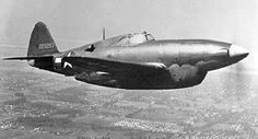 A Republic XP-47H Thunderbolt fitted with a liquid-cooled engine; note revised forward fuselage
