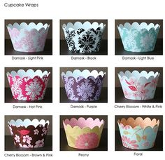 I have a template for DIY cupcake wrappers (using scrapbook paper).  They'll look awesome on the dessert table.