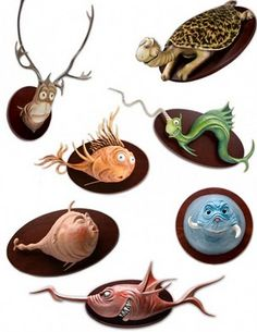 Dr Seuss Mounted Heads...lol thts too funny!