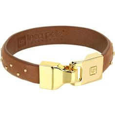 53% Off Now $34.99 Linea Pelle - Leather Bangle with Custom Closure Nailhead Studs (Coffee) - Jewelry http://www.freeprintableshoppingcoupons.com