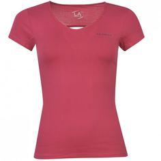 LA Gear - Cap V Neck T Shirt Ladies