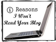 From Aadel at @thesetemptents Some major issues that will turn me off from reading a blog. #blogging