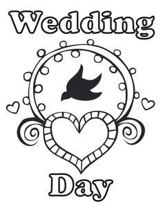 17 wedding coloring pages for kids who love to dream about their big day wedding day - Fun Printable Coloring Pages