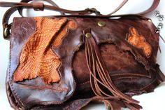 4lapki бохо сумочка клатч кожа крокодил ручная работа / genuine leather bag purse clutch Boho handmade