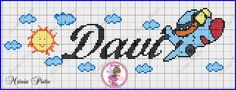 Davi Cross Stitch Alphabet, Cross Stitch Baby, Embroidery Patterns, Cross Stitch Patterns, Betty Boop, Plastic Canvas, Cross Stitching, Cartoon Characters, Diy And Crafts