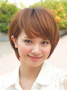 Short hair. Front view.