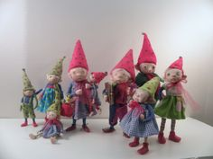 SPRING GNOMES ... ooak polymer clay art dolls ... by Dinkydarlings