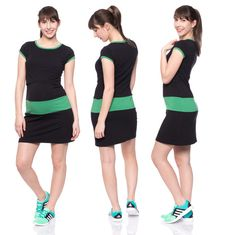 Viva la Mama | Summer is coming! Nursing dress COSMA (black/green): This short dress is a must-have for your upcoming spring/summer pregnancy wardrobe! COSMA is also ideal for discreet breastfeeding as well as after the nursing period. The dress is a wonderful gift for Valentine's Day, birth or baby shower!