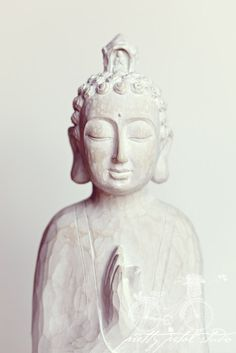 Fine Art Photograph, India Buddha Statue, Meditation, Prayer, White Tones, Spiritual, Religion, Peaceful, Wall Art, Home Decor, 8x12 Print on Etsy, $30.00