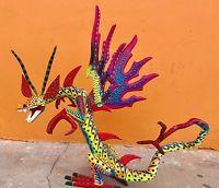 Dragon Wood Carving Alebrije Sculpture Oaxaca Mexican Folk Art Collection