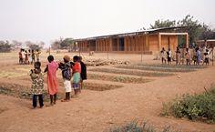 Gando Primary School, 2008   Francis Kéré     Perspective with school garden in front