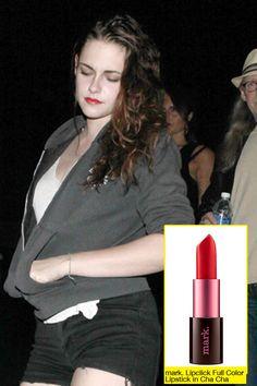 Kristen Stewart Lipstick featuring @mark. girl Lipclick Full Color Lipstick in cha cha!