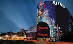 Riviera Hotel and Casino Exterior Night - Riviera Hotel