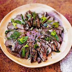 Tuplamarinoitu yrttilammas - Reseptit - Gloria.fi Main Courses, Japchae, Beef, Ethnic Recipes, Christmas, Food, Main Course Dishes, Meat, Xmas