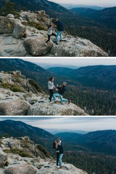 He asked her to marry him as soon as they reached the top of the mountain, and it's so amazing.