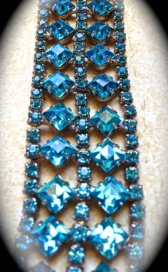 Unsigned Weiss turquoise cuff bracelet by JNPVintageJewelry, $62.00