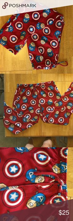 Marvel Captain America Fleece Pants Marvel Captain America Fleece Pants          Soft and Comfy.                                               Size XL Marvel Pants Sweatpants & Joggers