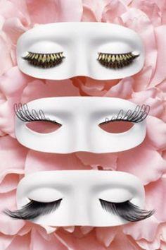masks and  fake eyelashes
