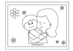 Crafts,Actvities and Worksheets for Preschool,Toddler and Kindergarten.Lots of worksheets and coloring pages. Mothers Day Coloring Pages, Coloring Pages For Kids, Karla Gerard, Mother's Day Colors, Craft Free, Learning Italian, Art N Craft, Mom Day, Felt Crafts