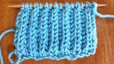 How to Knit The Brioche Stitch.  Knit A Long, after several repeats your swatch will begin to actually look like something.