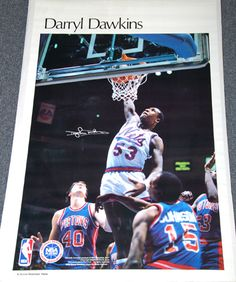 DARRYL DAWKINS 1983 New Jersey Nets Sports Illustrated Marketcom SI Poster - Sold for $39.99 August 2013