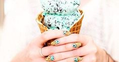 Ice Cream Nail Art Is the Sweetest Manicure Trend of #Summer>http://www.popsugar.com/beauty/Ice-Cream-Nail-Art-41097547 #calgary #laser