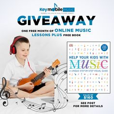 WIN One Month of Free Music Lessons, plus free music book! #giveaway #win Online Music Lessons, Writing Motivation, Email Marketing, Free Books, Giveaways, Bath And Body, Teacher, Student, Kids
