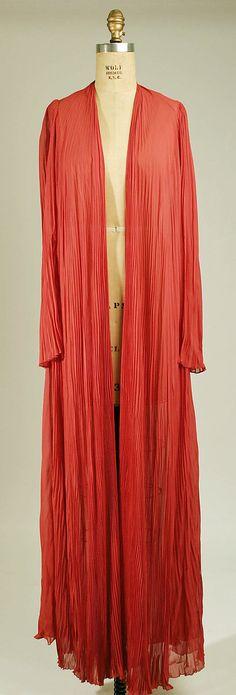 mid-1930s silk Peignoir