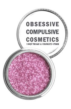 Go for bright pink cosmetic glitter for an unexpected pop of shimmer.