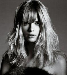 blonde + chunky bangs