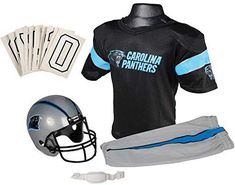 Amazon.com   Franklin Sports NFL Carolina Panthers Youth Licensed Deluxe  Uniform Set 09371a180