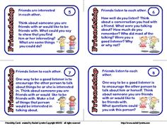 Friendship Cards: 24 Social Skill Prompts image 2