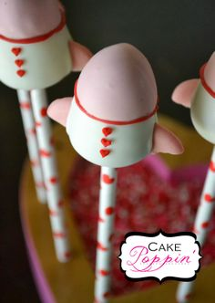 Pint Sized Baker: Rocket Ship Cake Pops from Cake Poppin
