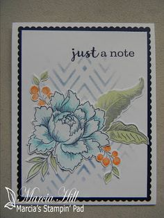 Marcia's Stampin' Pad: Colour Q Challenge Peonies Bouquet, Peony, Altenew Cards, Persian Motifs, Stamping Up Cards, Heartfelt Creations, Card Sketches, Vintage Flowers, Homemade Cards