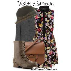 Violet Harmon by fofandoms on Polyvore