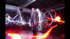 Painting with light and strobe bullet time.