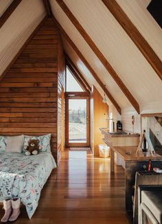 Home Decor - Spectacular A-Frame Cabin In Gentle Communion With Nature A Frame Cabin, A Frame House, Cabin Design, Tiny House Design, Triangle House, Cabin Homes, House Goals, Dream Rooms, Humble Abode