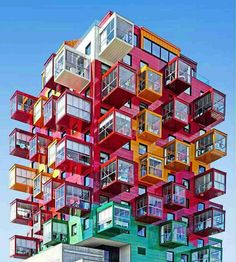 I have to addmit what a colourful and odd building it is, totally unseen concept