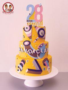 Gâteau réalisé pour le 28eme Festival Handiclap à Nantes - Un Jeu d'Enfant , Cake design - Nantes