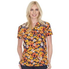 Scrubin Is Your Destination For the Lowest Prices On Nursing Scrubs, Medical Uniforms, Medical Supplies & More. Shop At Scrubin and Save On Scrubs Today! Halloween Scrubs, Halloween Prints, Halloween Ii, Medical Uniforms, Medical Scrubs, Scrub Pants, Scrub Tops, Lady V, Party Fashion