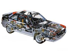1985 Audi Sport Quattro Group B Rally Car in cutaway form. Source: www.boldride.com