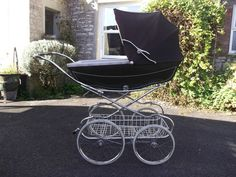 Vintage Marmet Hard Bodied Coachbuilt Pram in Brown |