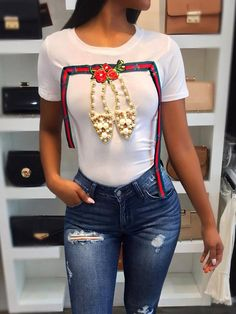 Floral Applique Shiny High Heels Pattern T-shirt Two pieces Outfit accessories Jumpsuit romper Fashion outfits Trendy dresses Rompers women Halter crop top White tops fashion Cheap Party Dresses, Designer Party Dresses, Trendy Dresses, Trendy Outfits, Fashion Outfits, Womens Fashion, Fashion Trends, Fashion 2017, Fashion Ideas