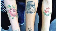 kreuzstich-tattoos