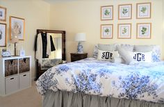 Preppy Chic Master Bedroom Reveal: http://classicbrideblog.com/2017/04/cbbs-preppy-chic-master-bedroom-reveal.html/
