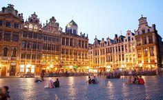 Praça principal de Bruxelas, na Bélgica